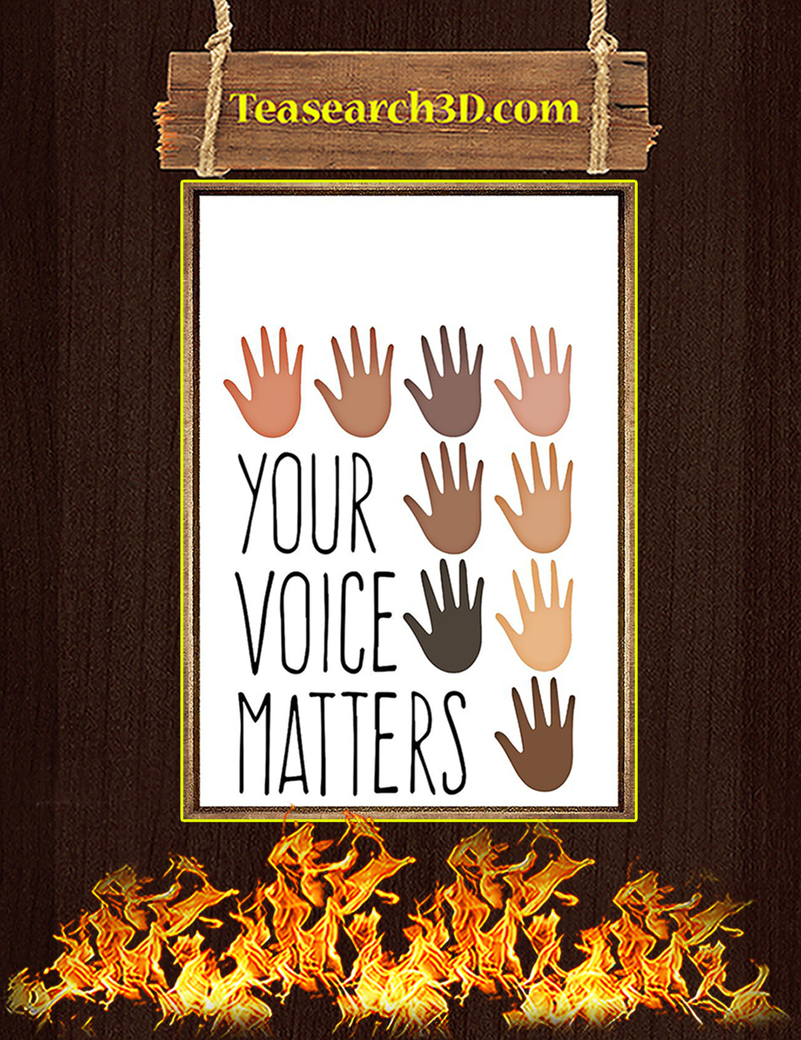 Human Diversity your voice matters poster A3