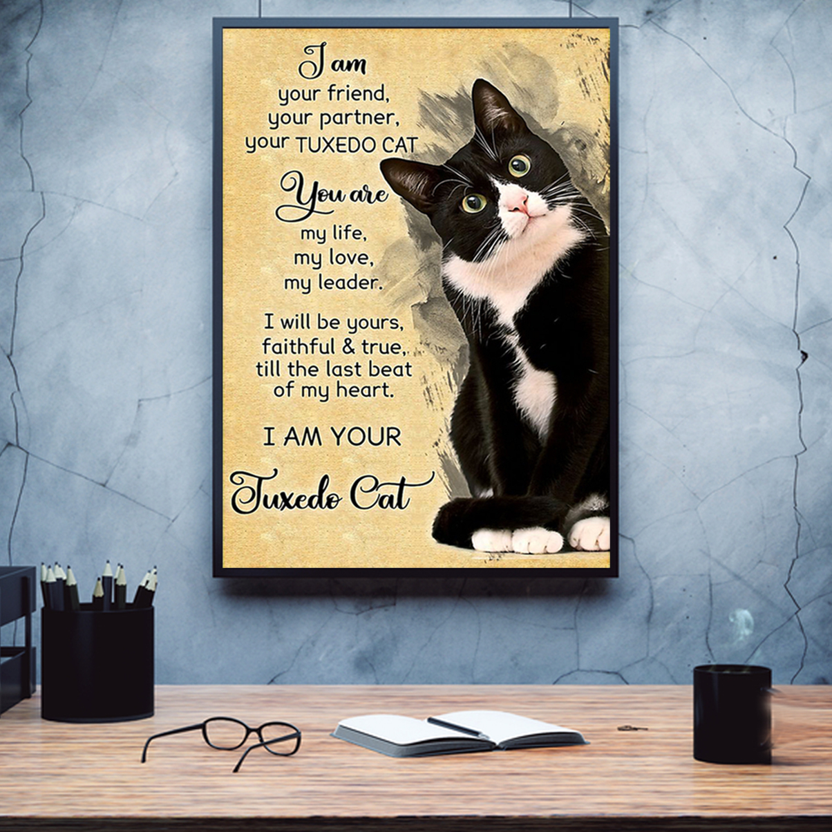 I am your friend your partner your tuxedo cat poster A1