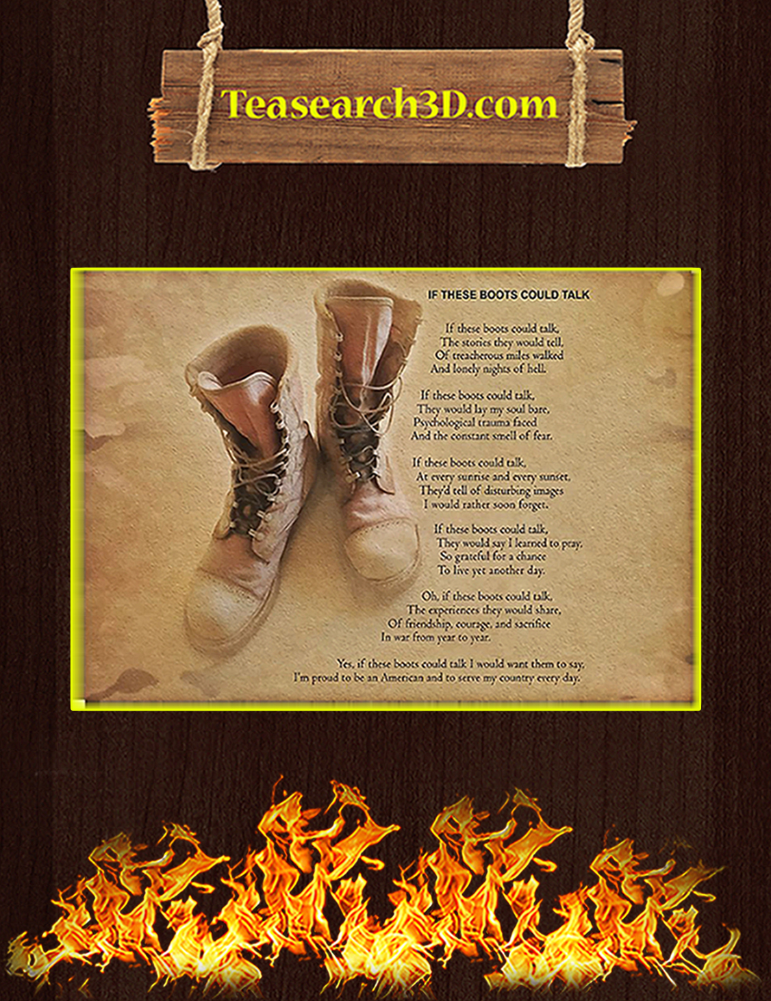 If these boots could talk poster A3