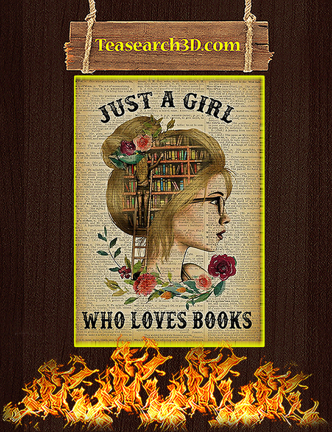 Just a girl who loves books poster A2