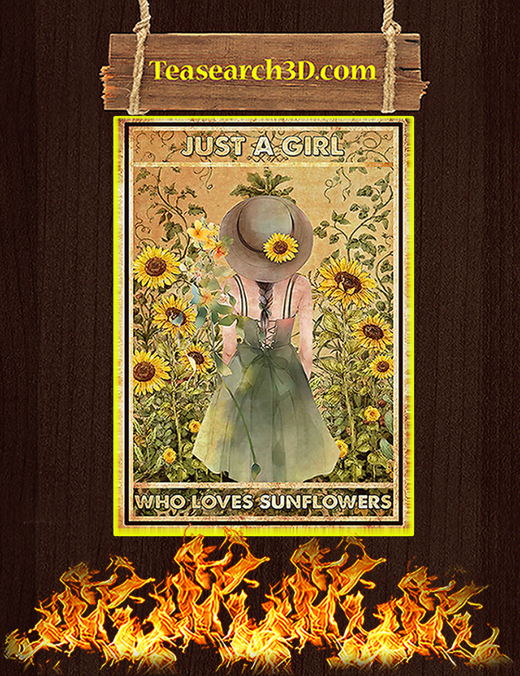 Just a girl who loves sunflowers poster A1