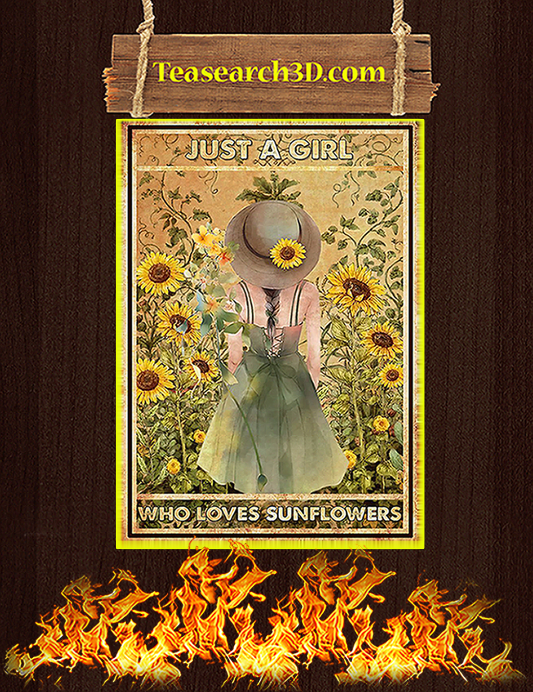 Just a girl who loves sunflowers poster A2