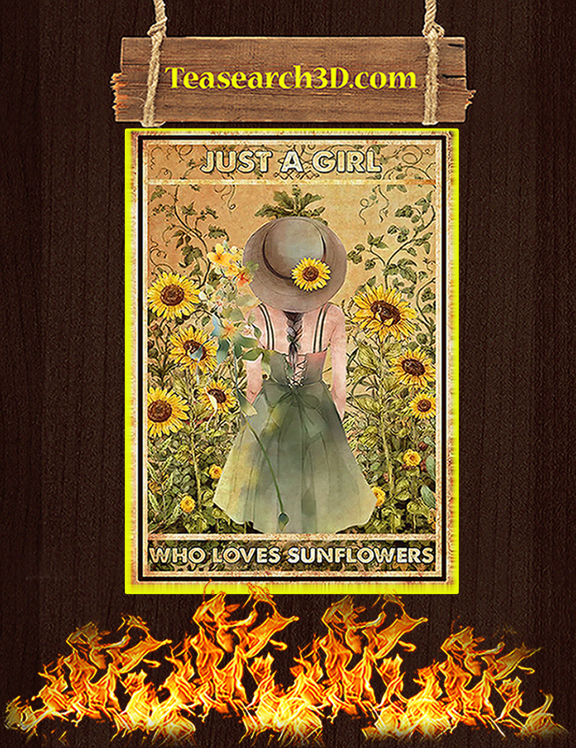 Just a girl who loves sunflowers poster A3