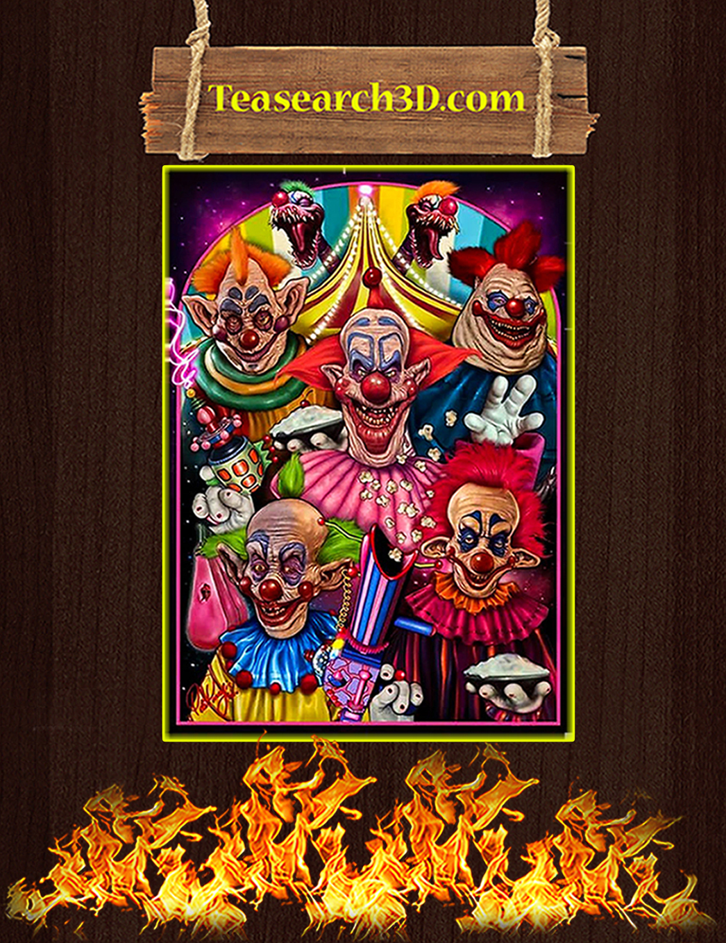 Killer klowns from outer space poster A1