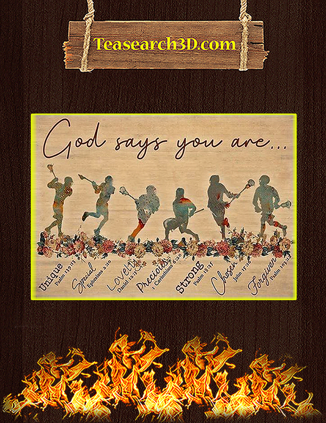 Lacrosse god says you are poster A2