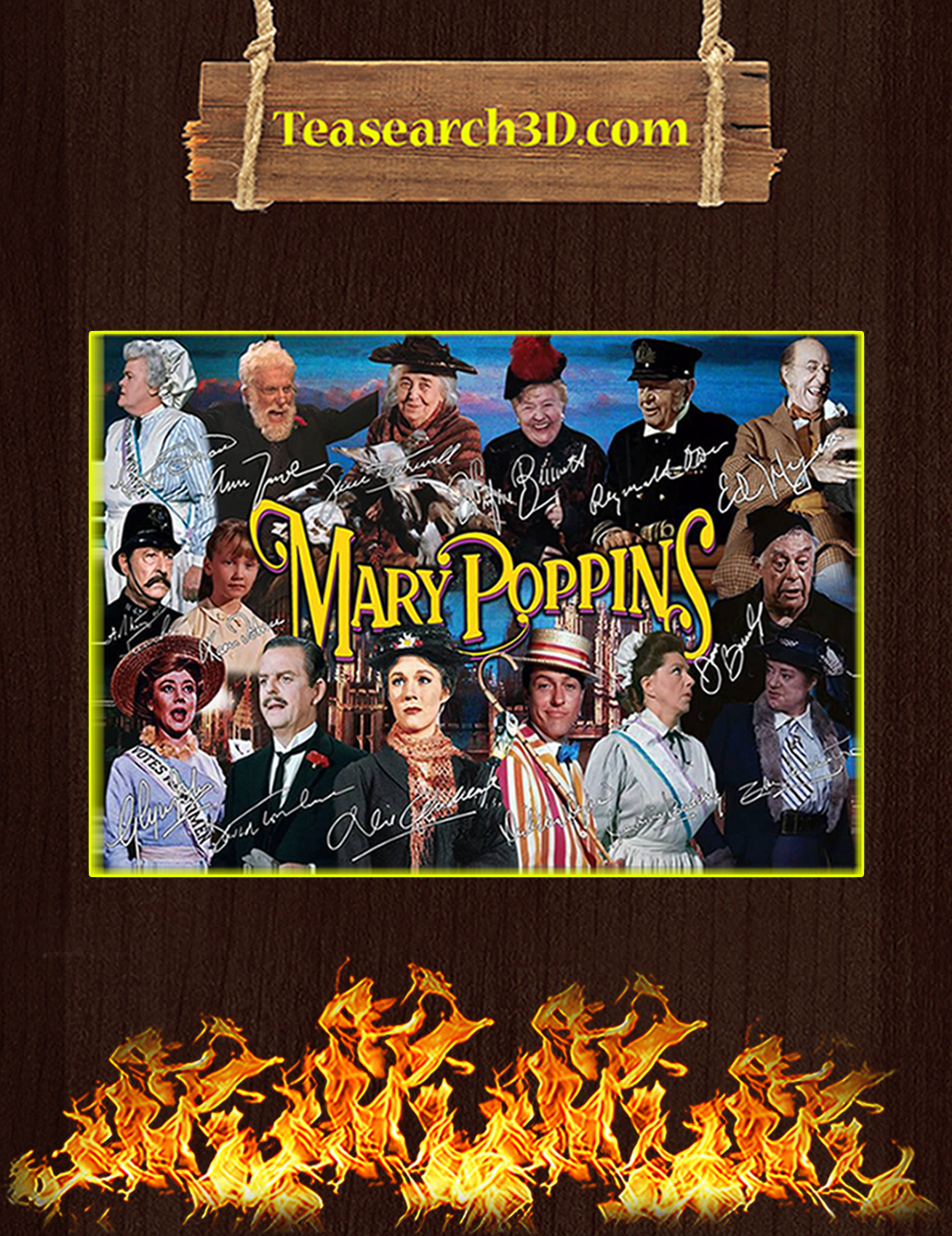 Mary poppins signature poster A3