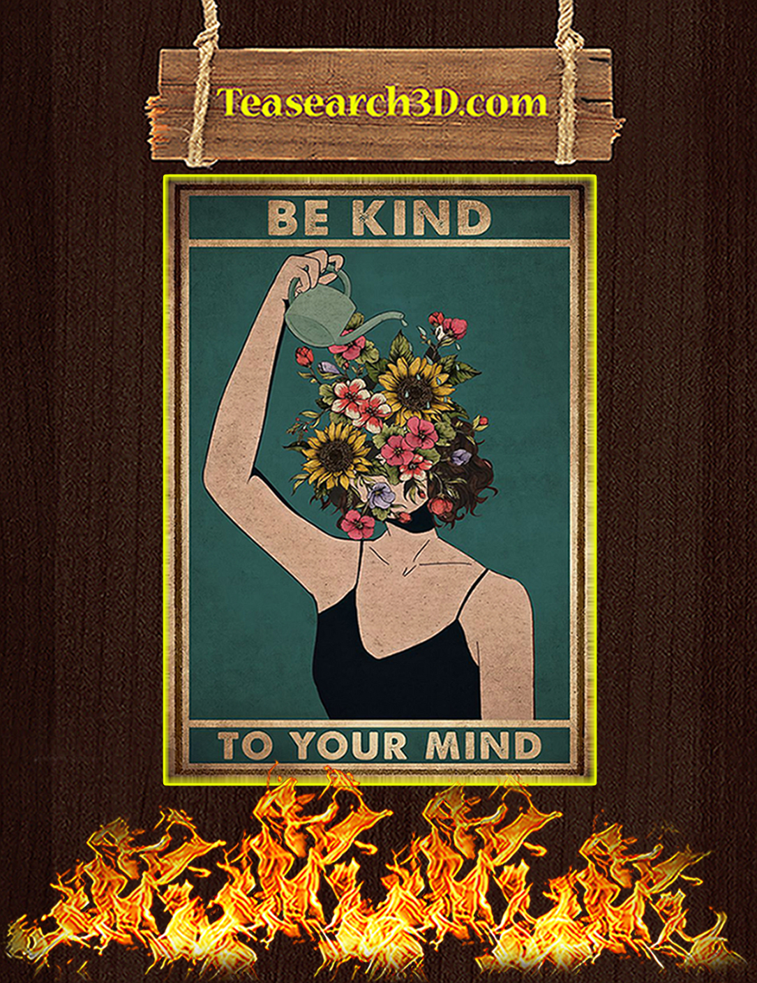 Mental be kind to your mind poster A2