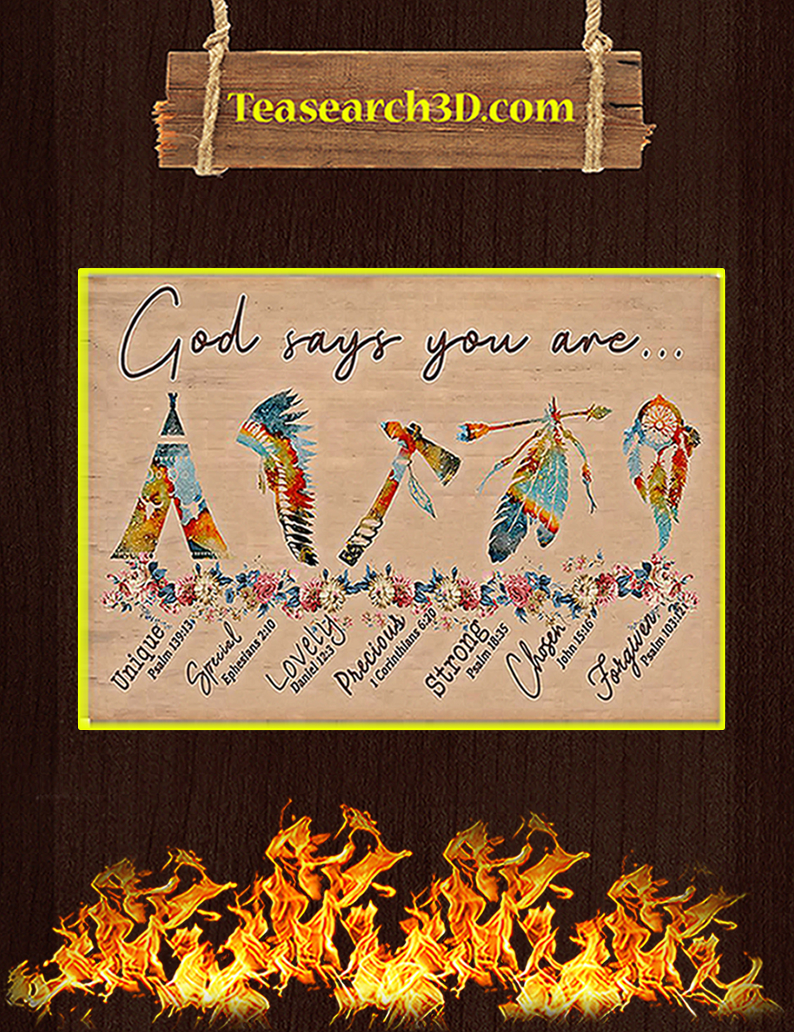 Native god says you are poster A3