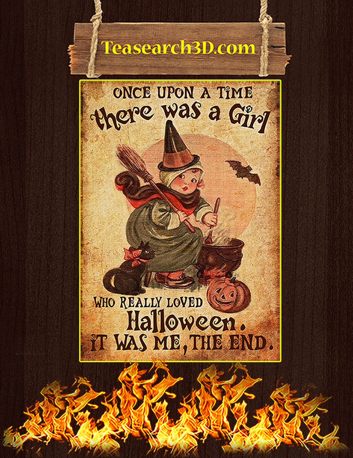 Once upon a time there was a girl who really loved halloween poster A3