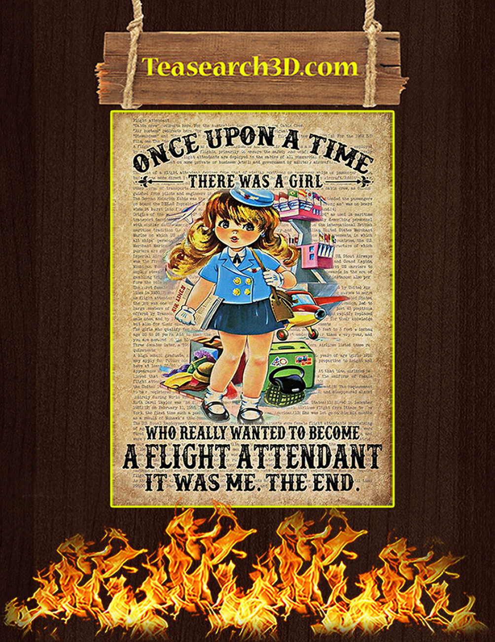 Once upon a time there was a girl who really wanted to become a flight attendant poster 1