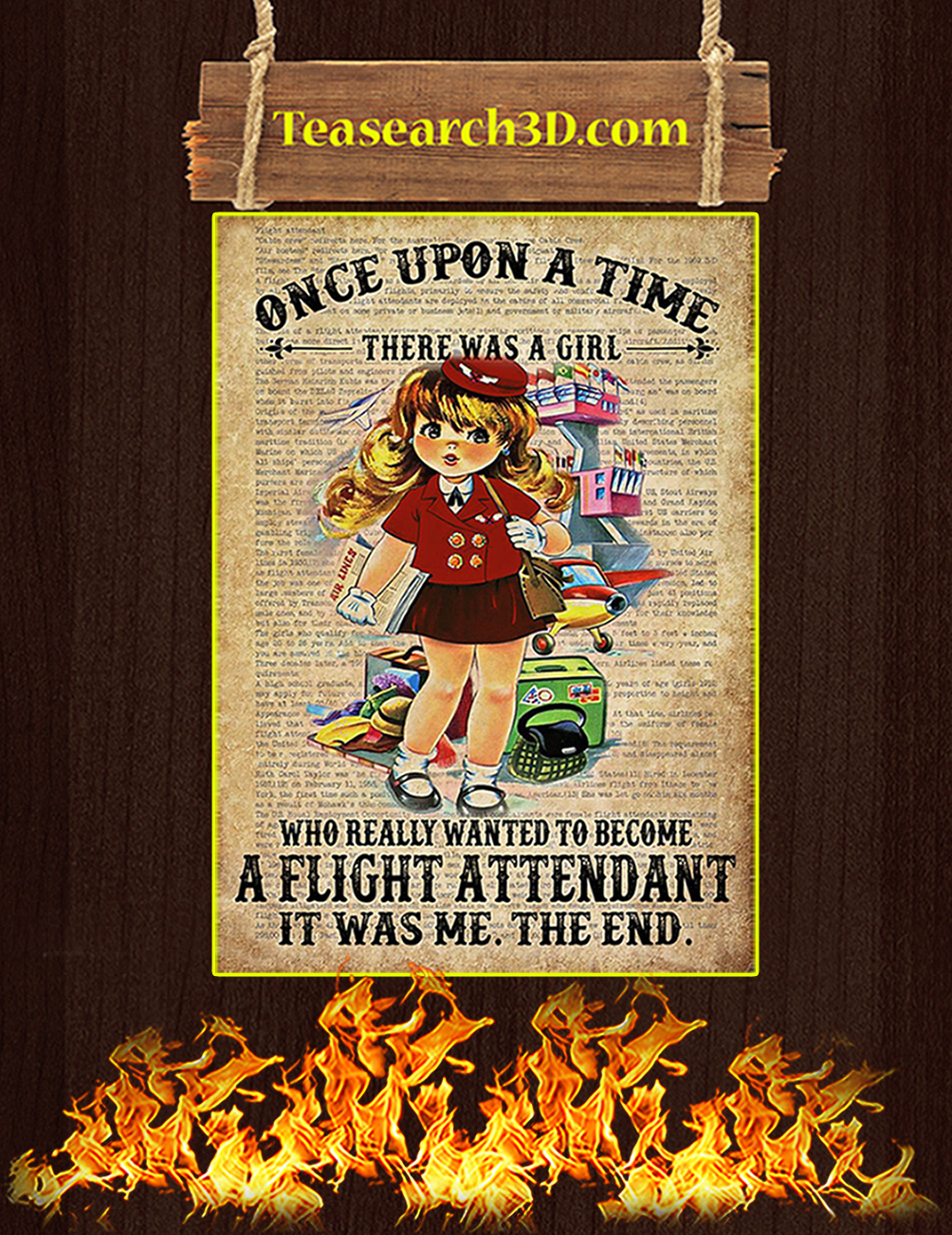 Once upon a time there was a girl who really wanted to become a flight attendant poster 5