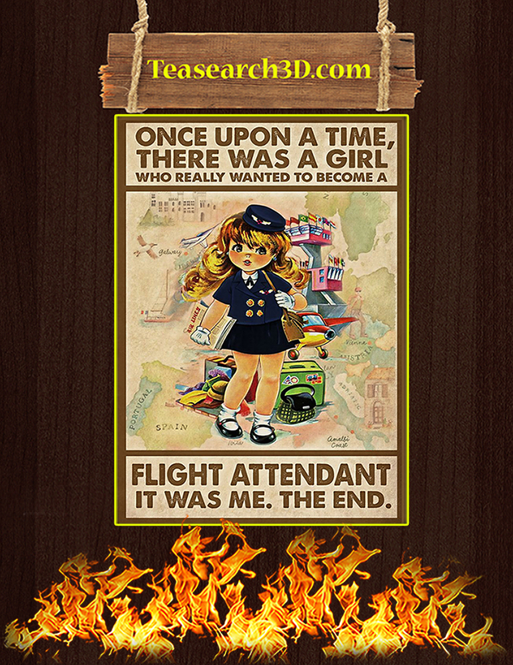 Once upon a time there was a girl who really wanted to become a flight attendant poster 6