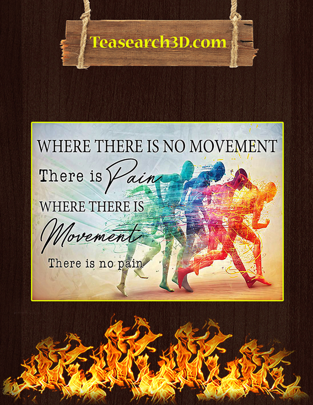 PT where there is no movement there is pain poster A1