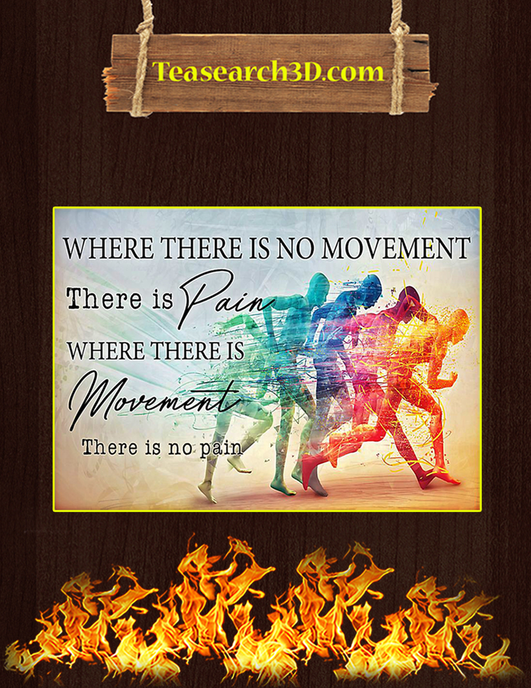 PT where there is no movement there is pain poster A2