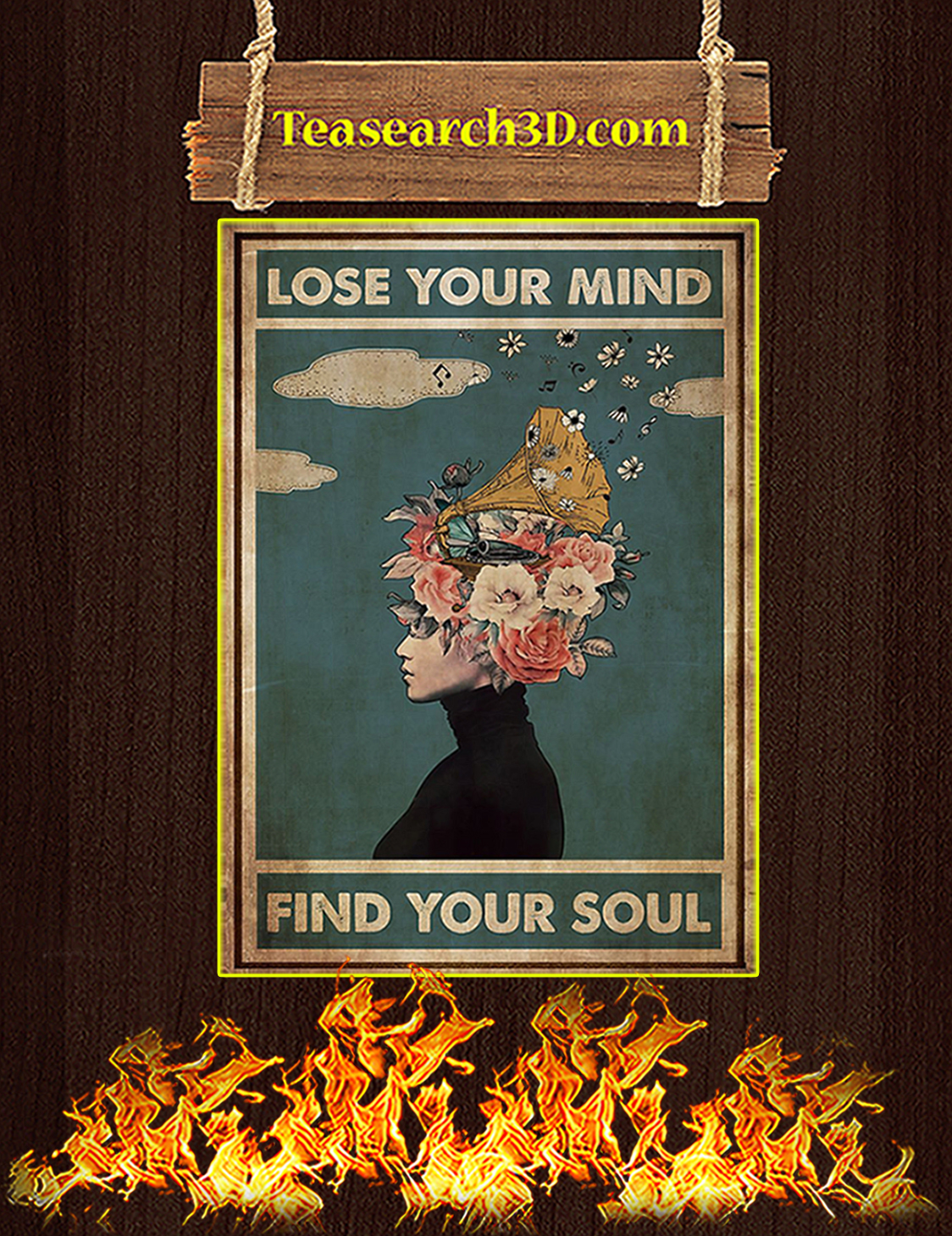 Phonograph lose your mind find your soul poster A3