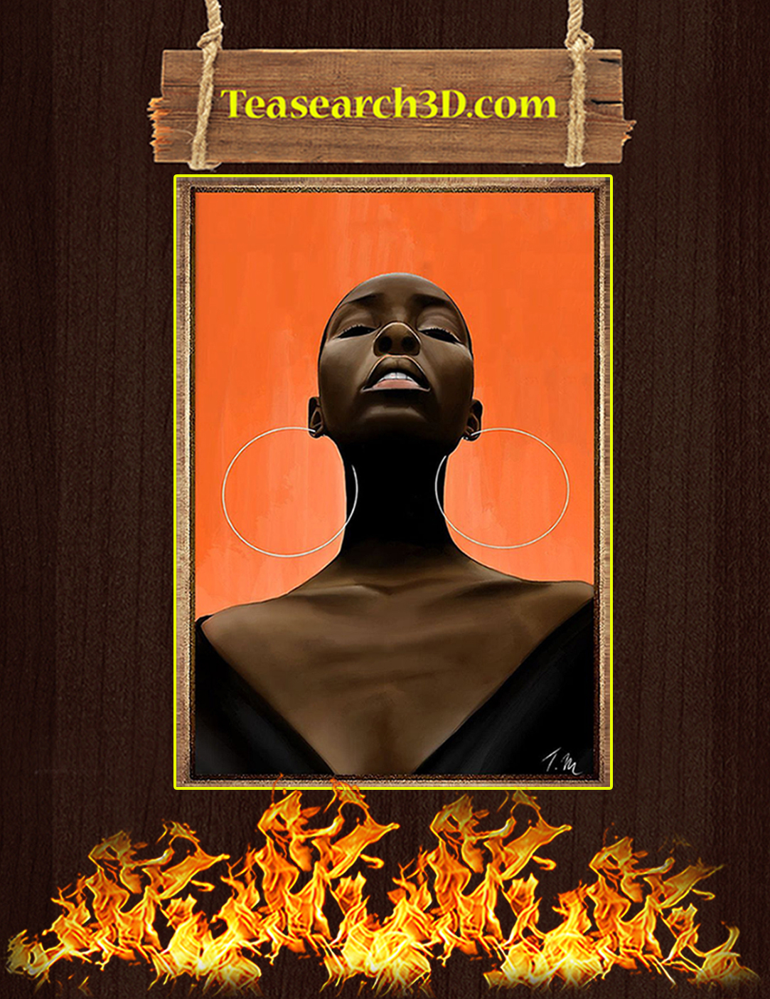 Powerful black women poster A2