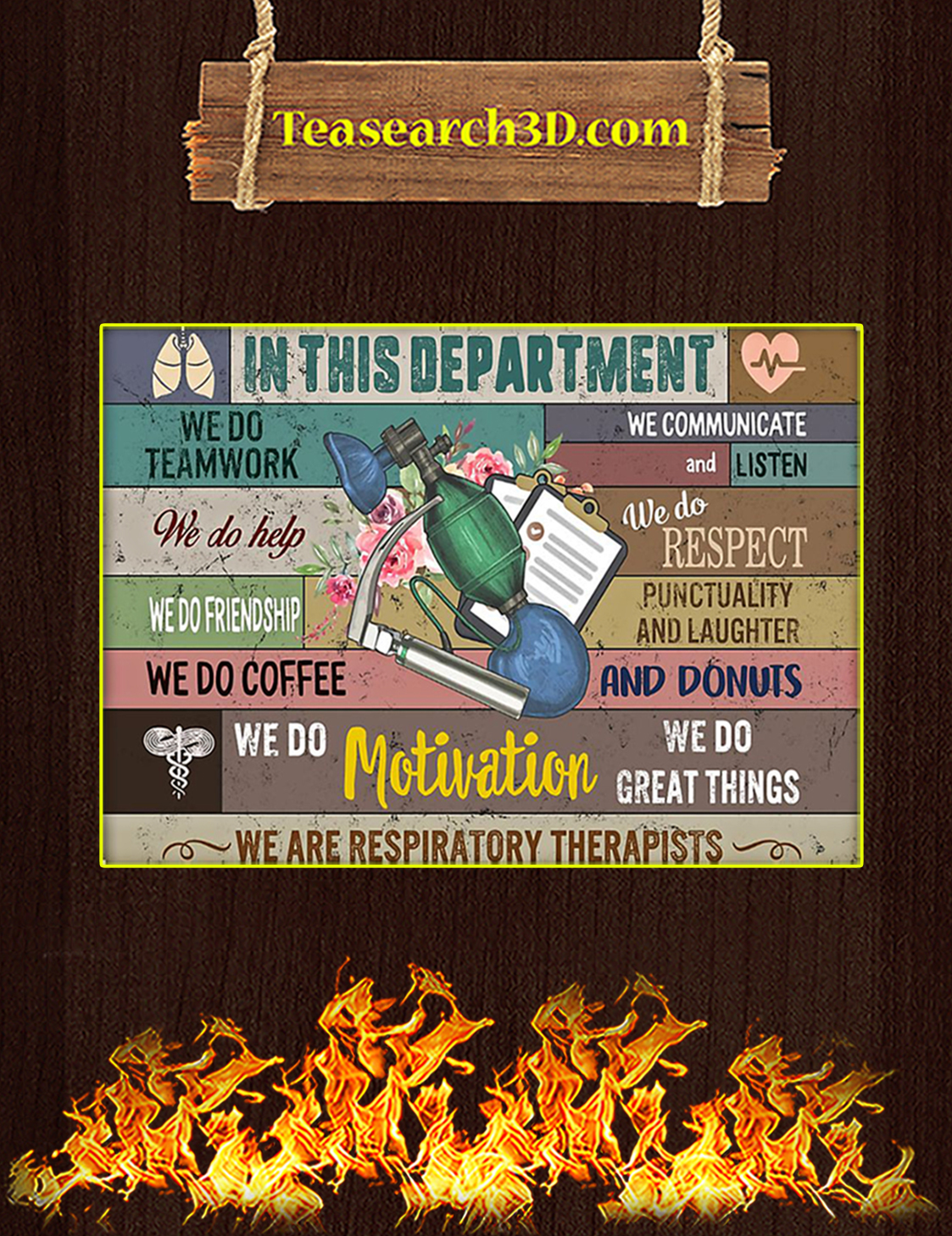 Respiratory therapist in this department poster A3