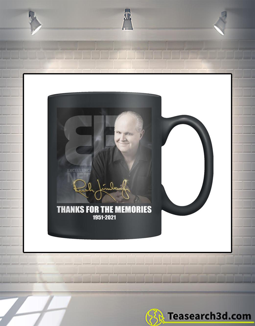 Rush Limbaugh signature thank for the memories mug 11oz