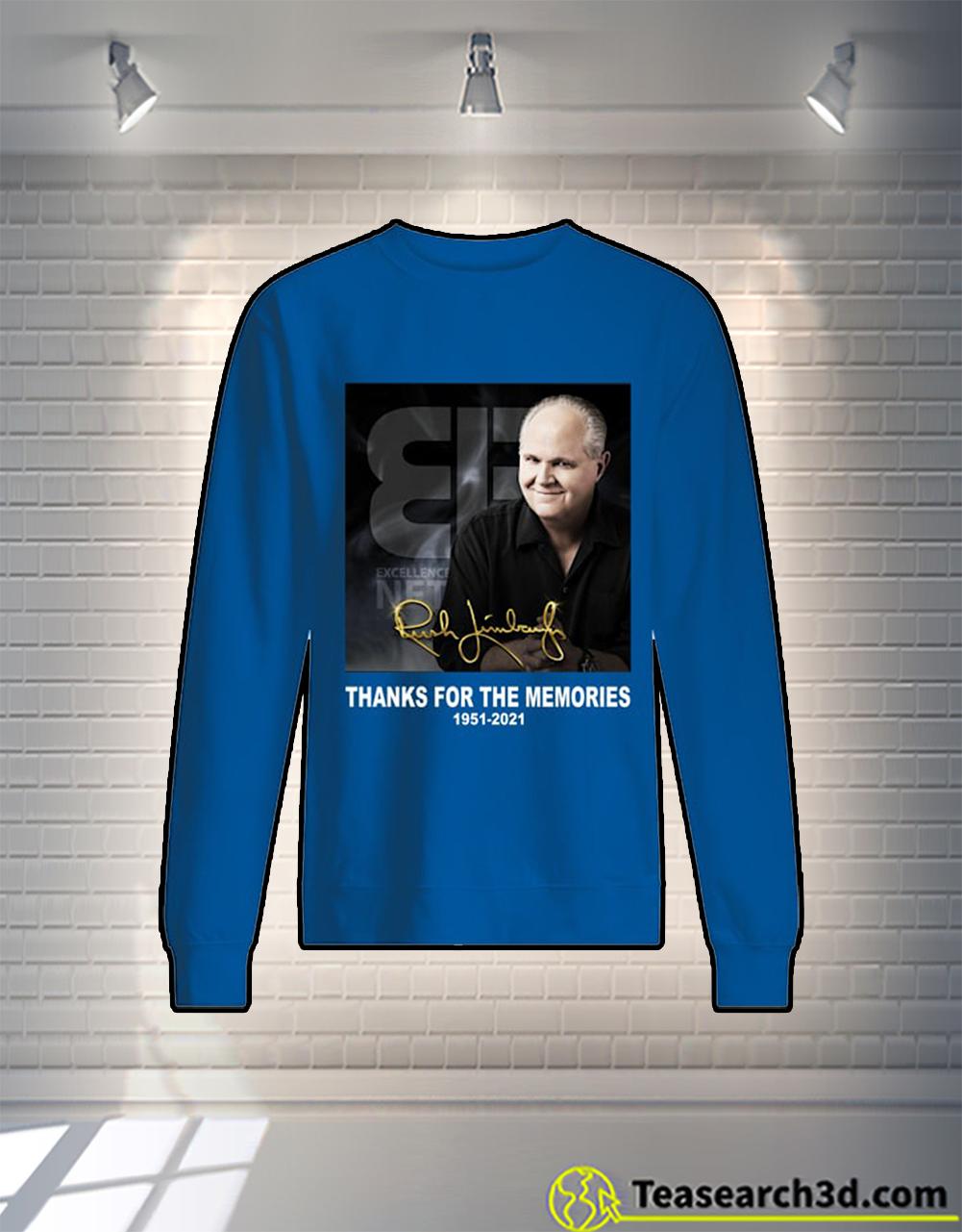 Rush Limbaugh signature thank for the memories sweatshirt