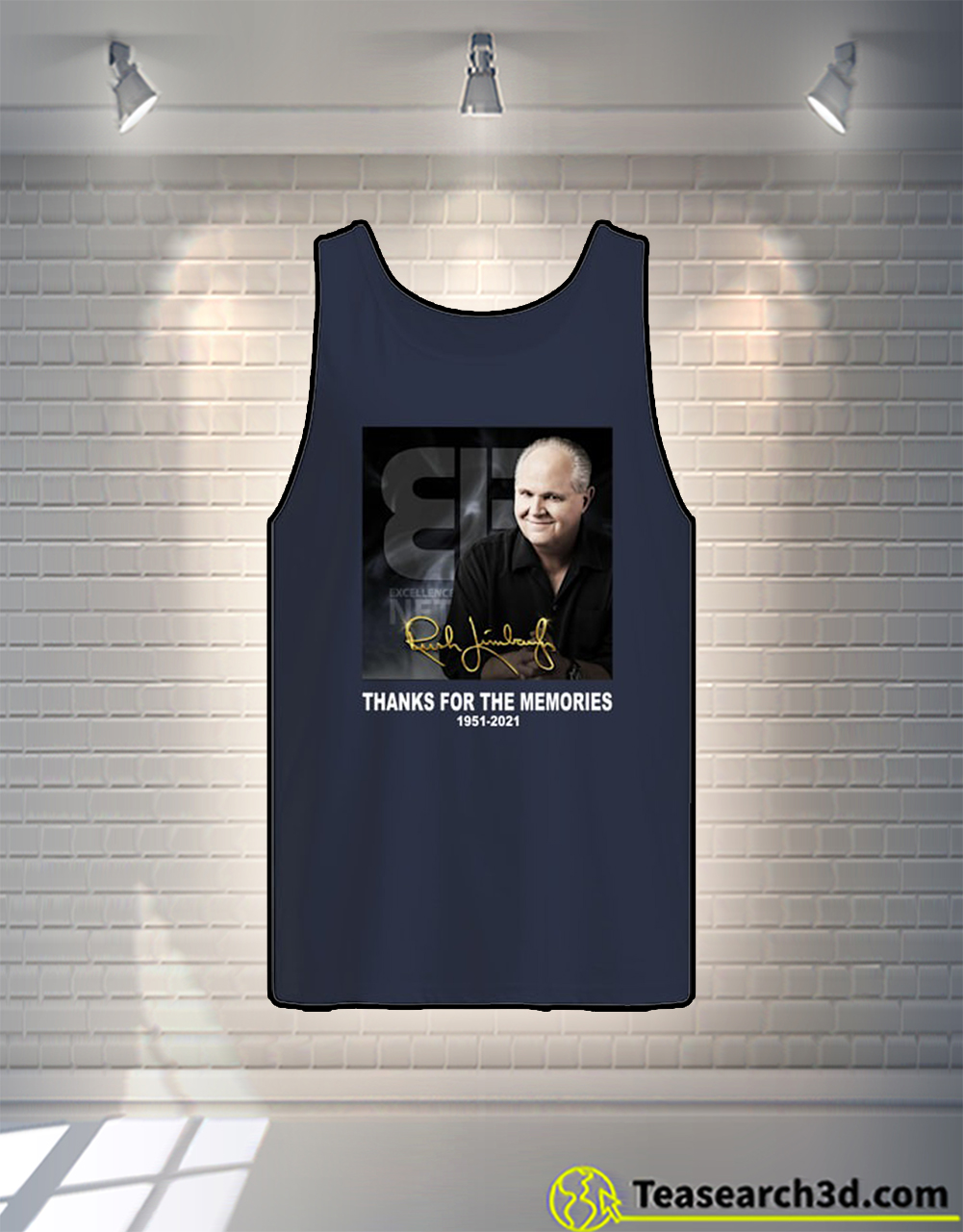 Rush Limbaugh signature thank for the memories tank top