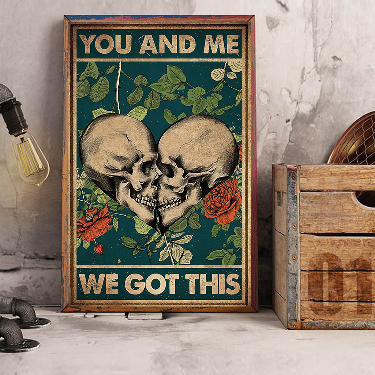 Skull family you and me we got this poster A3