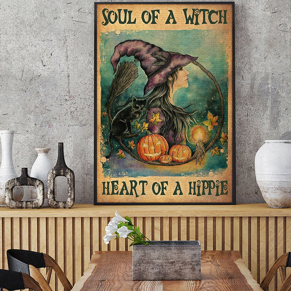 Soul of a witch health of a hippie poster A1