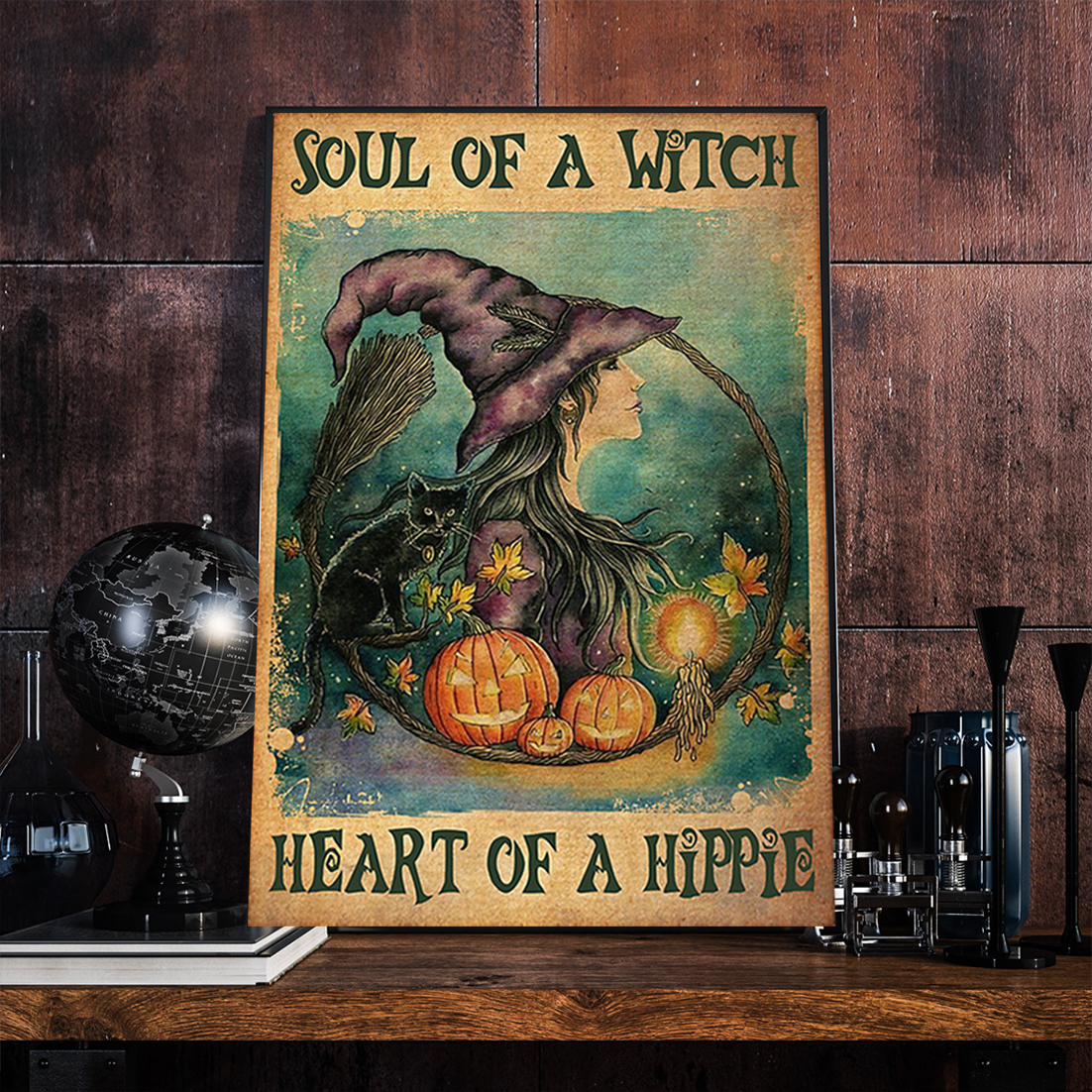 Soul of a witch health of a hippie poster A3