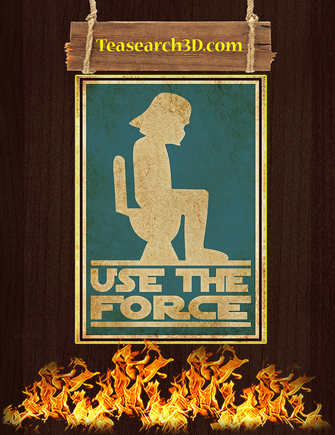 Star wars Use the force bathroom sign poster A2