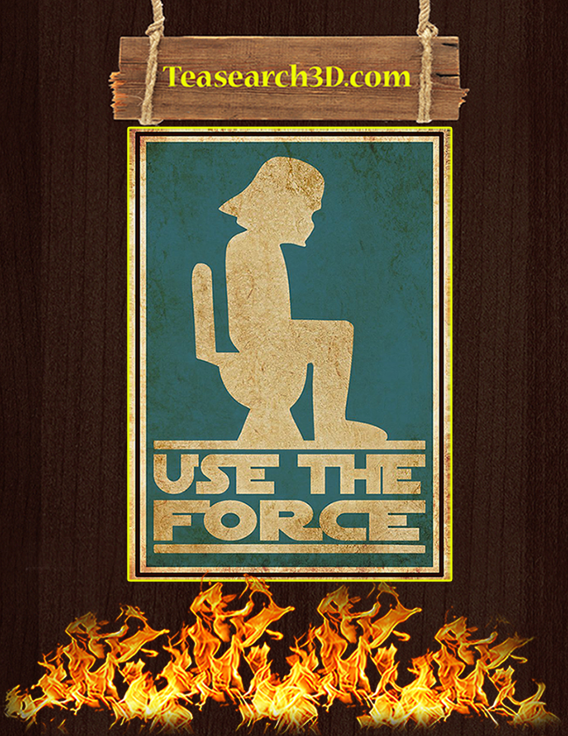 Star wars Use the force bathroom sign poster A3