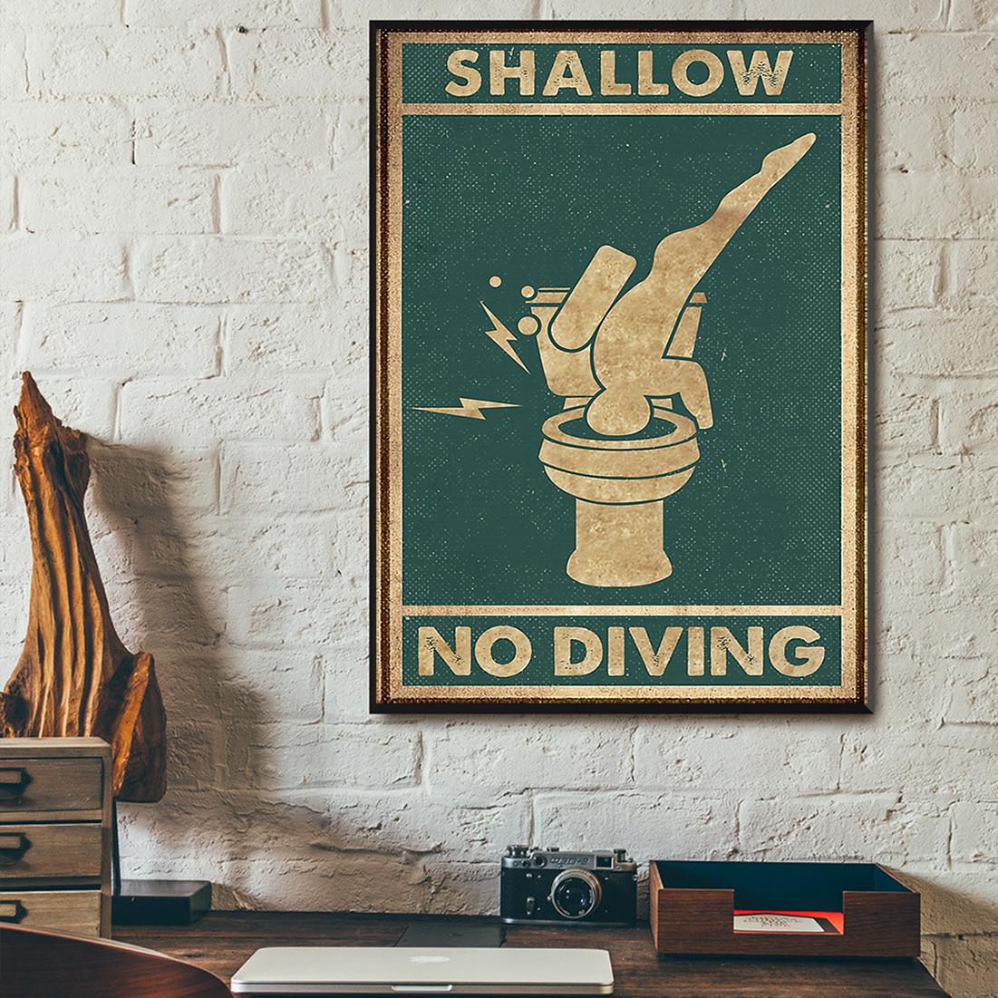 Swallow no diving poster A1