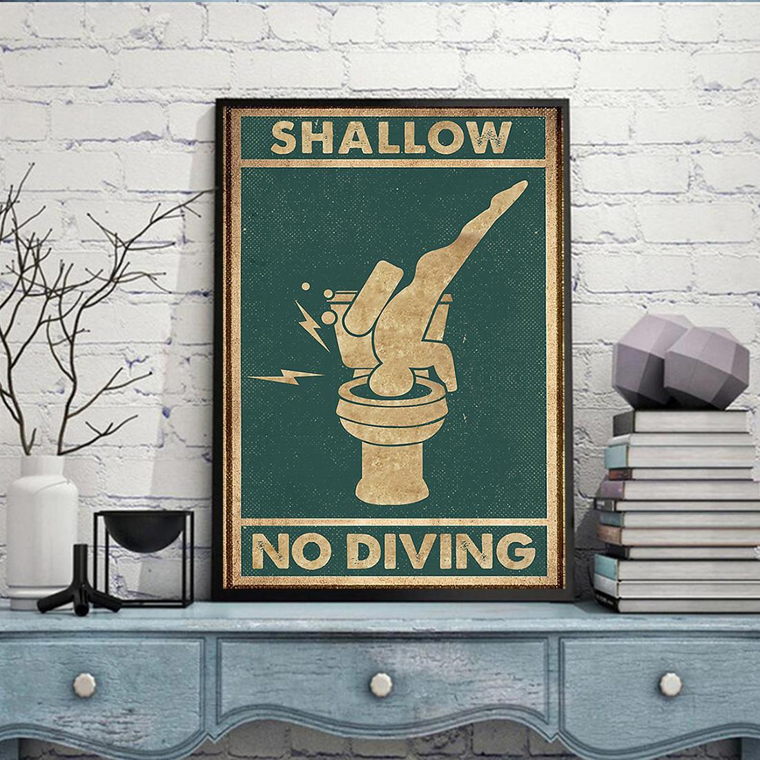 Swallow no diving poster A2