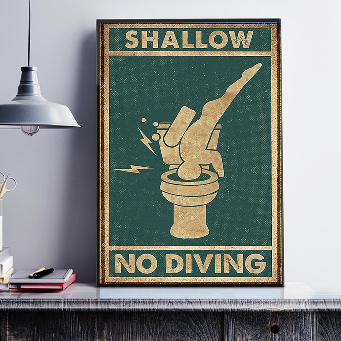 Swallow no diving poster A3