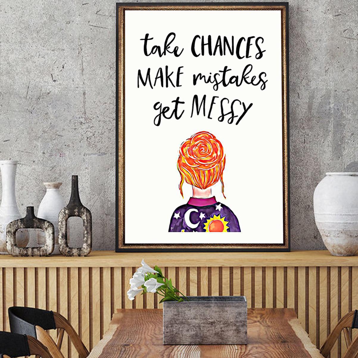 Teacher take chances make mistakes get messy poster A1