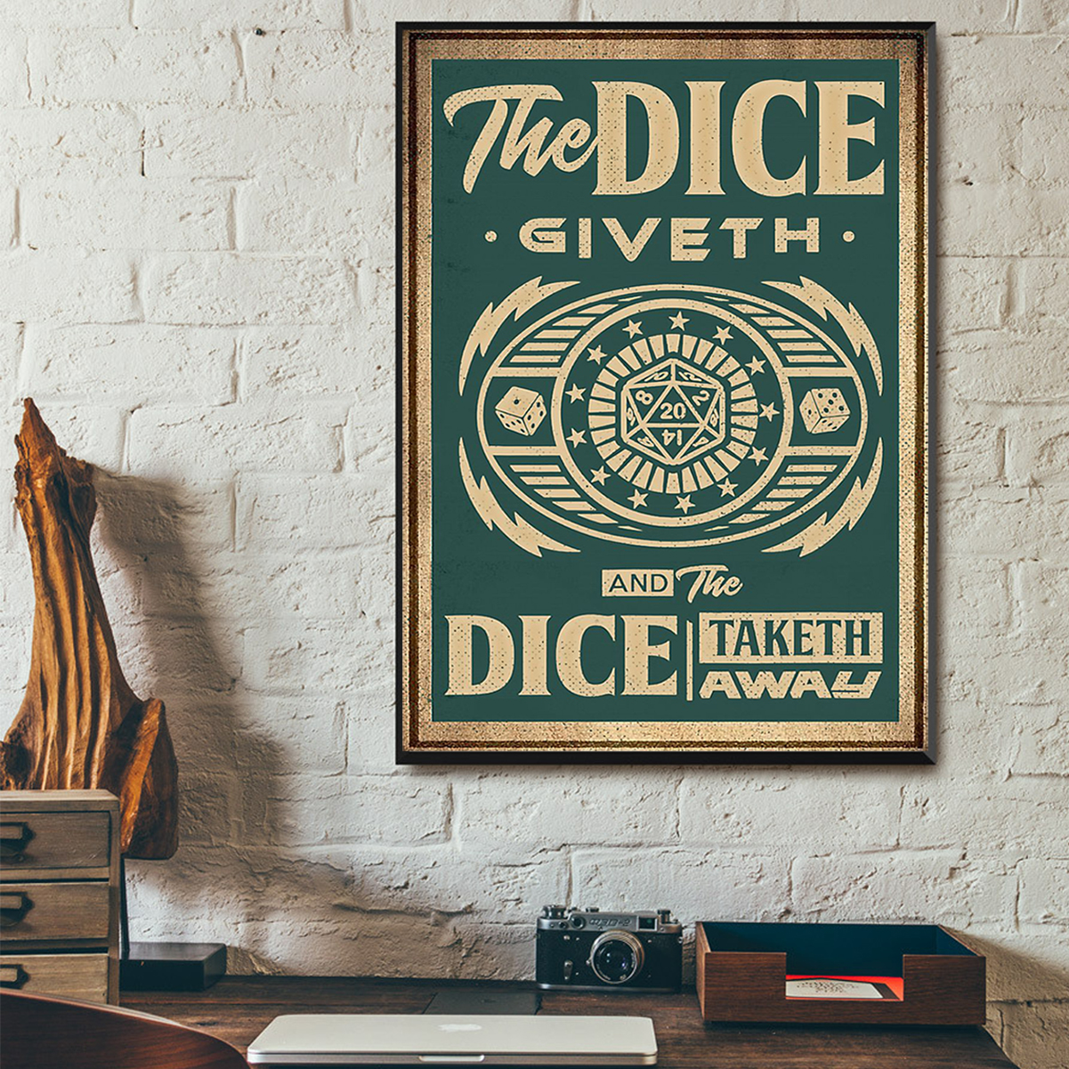 The dice giveth and the dice taketh away poster A1