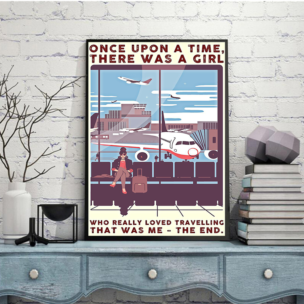 There was a girl who really loved traveling poster A2