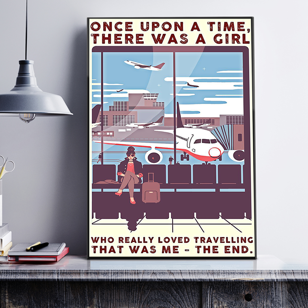 There was a girl who really loved traveling poster A3