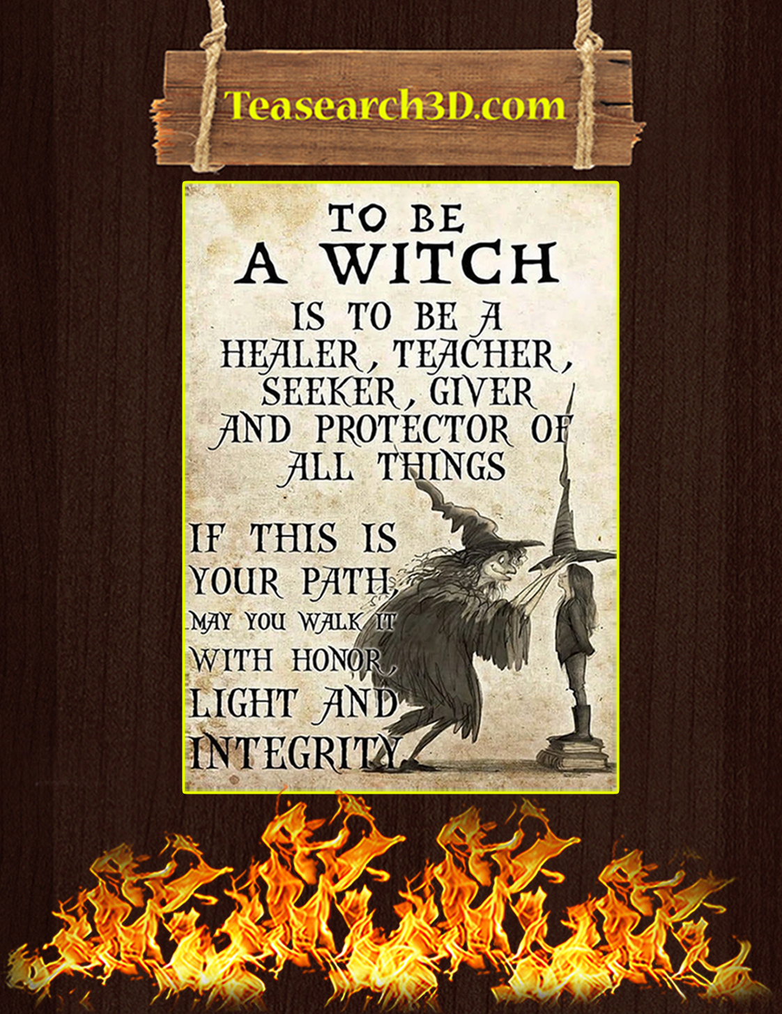 To be a witch is to be a healer teacher poster A3