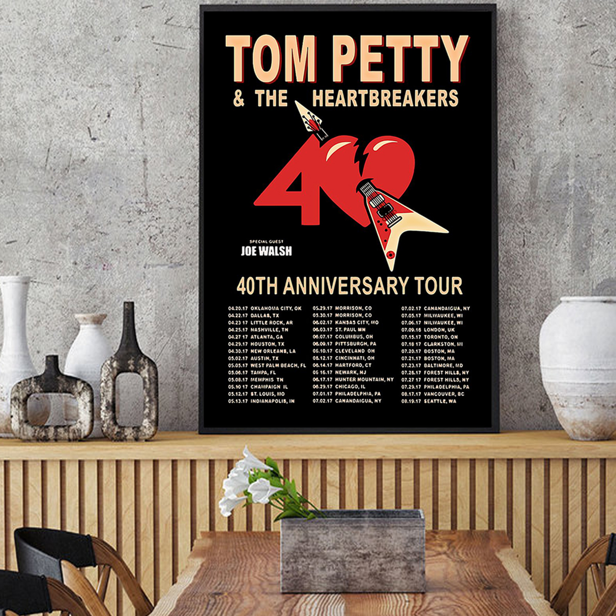 Tom petty and the heartbreakers 40th anniversary tour poster A1
