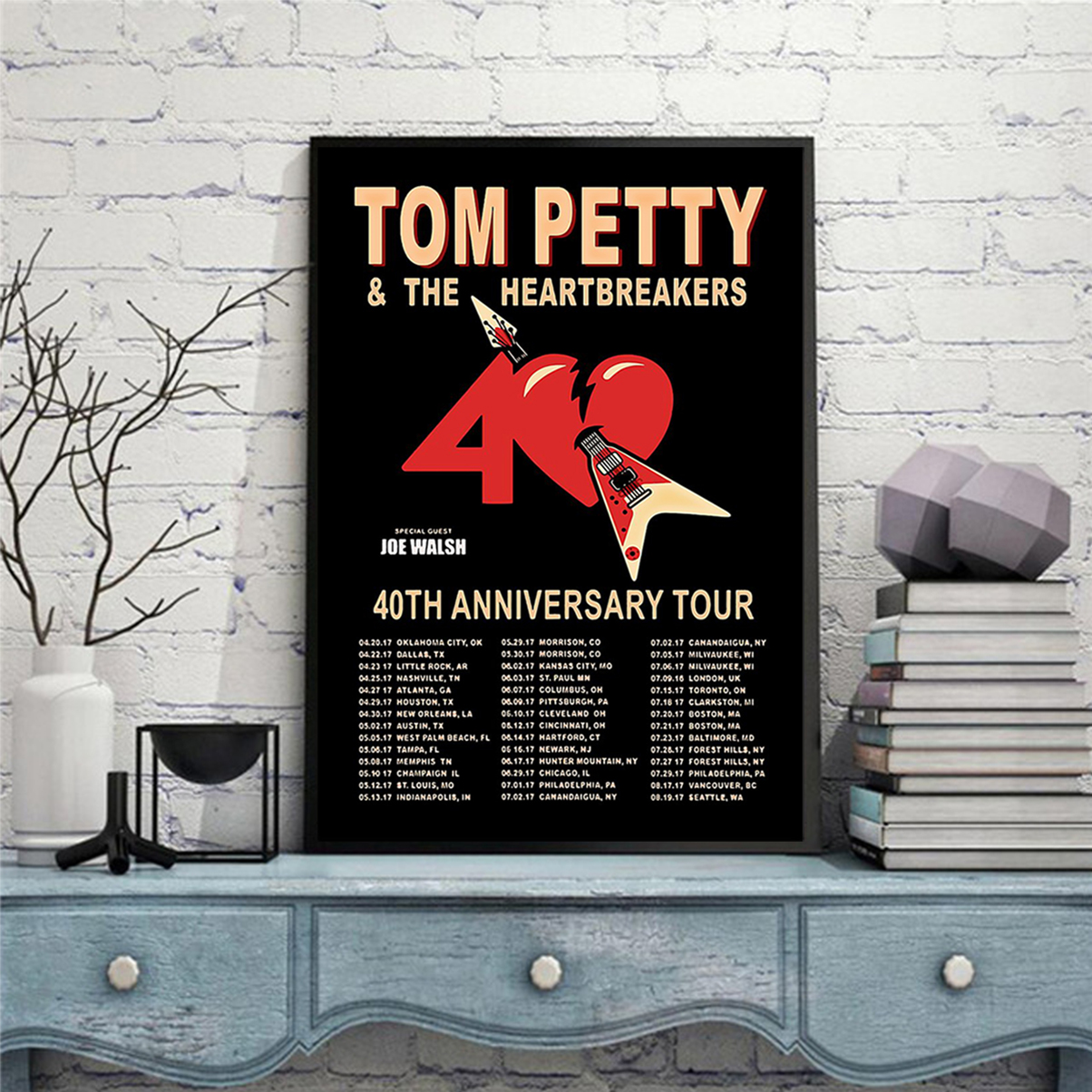 Tom petty and the heartbreakers 40th anniversary tour poster A2