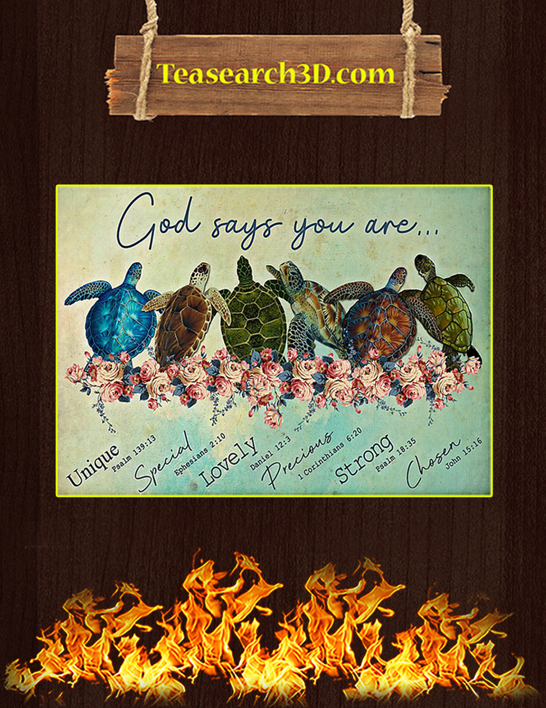 Turtle god says you are poster A2