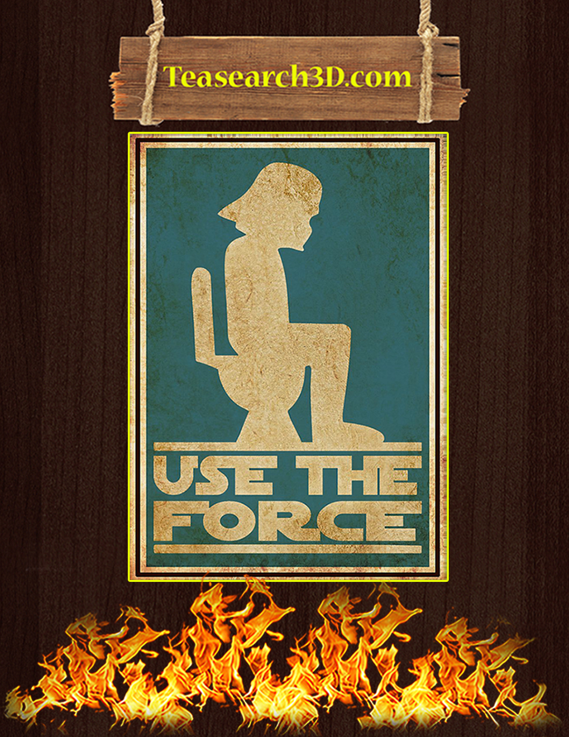 Use the force star wars poster A3