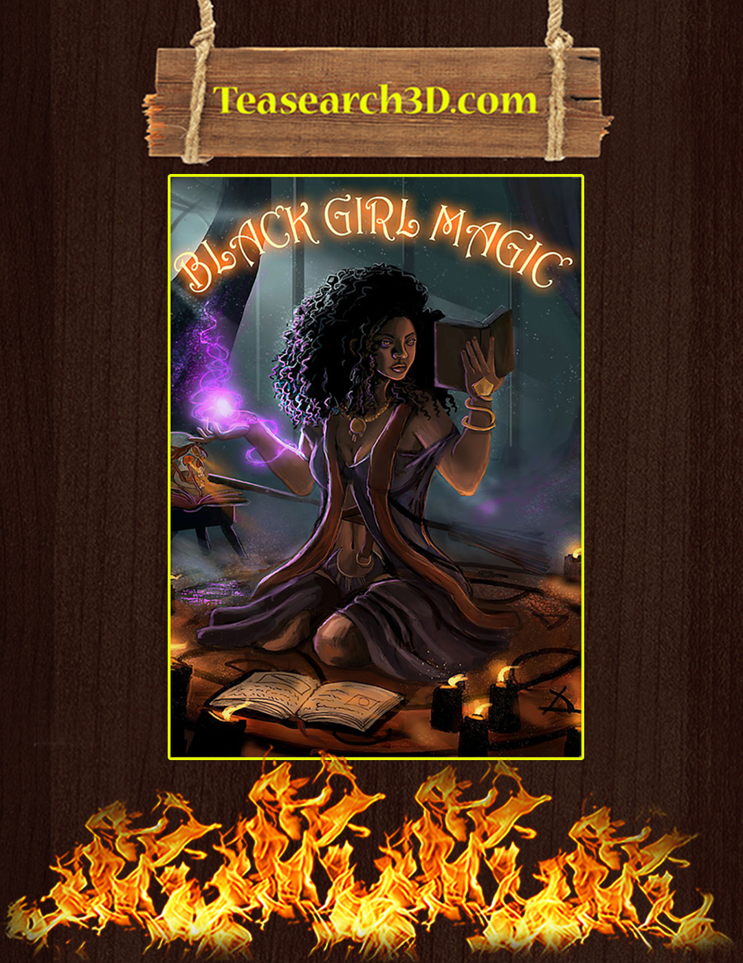 Witch black girl magic poster A2
