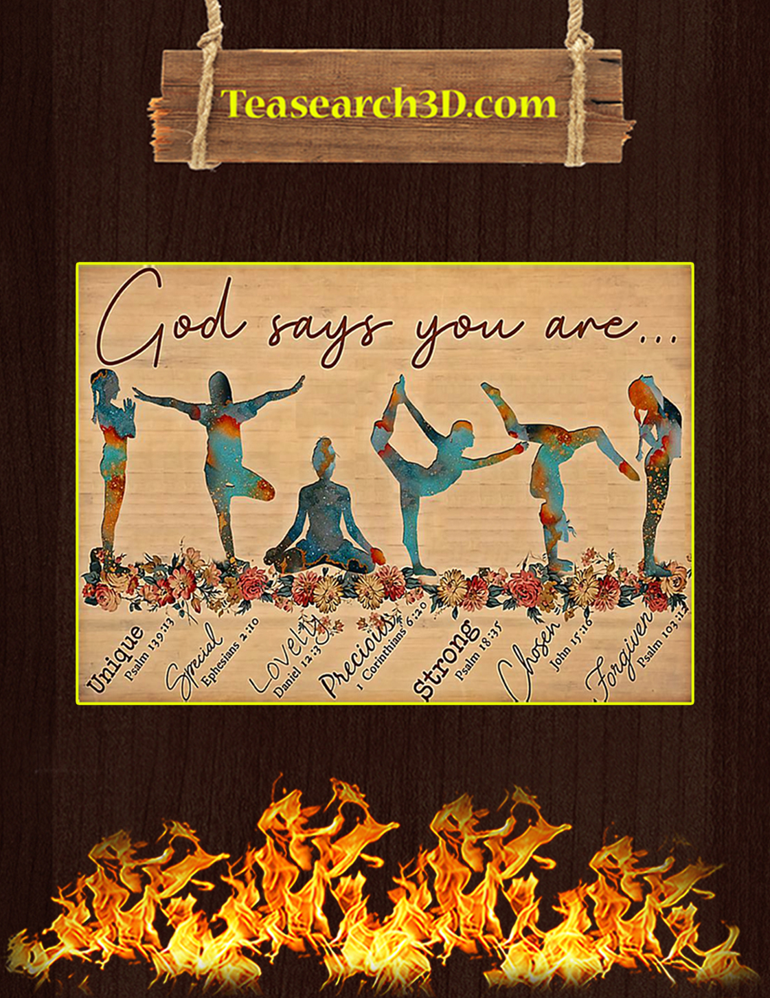 Yoga god says you are poster A3