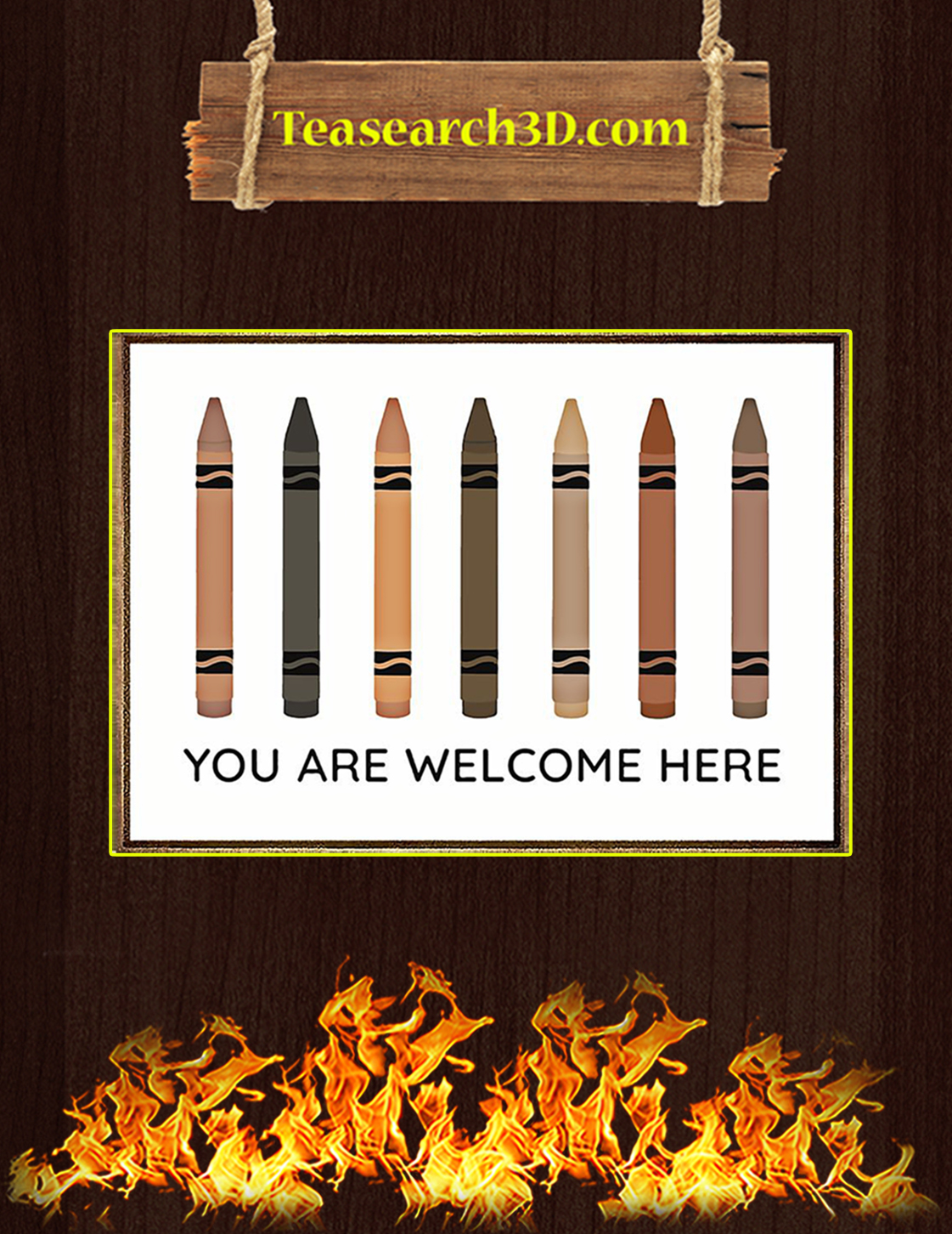 You are welcome here poster A3