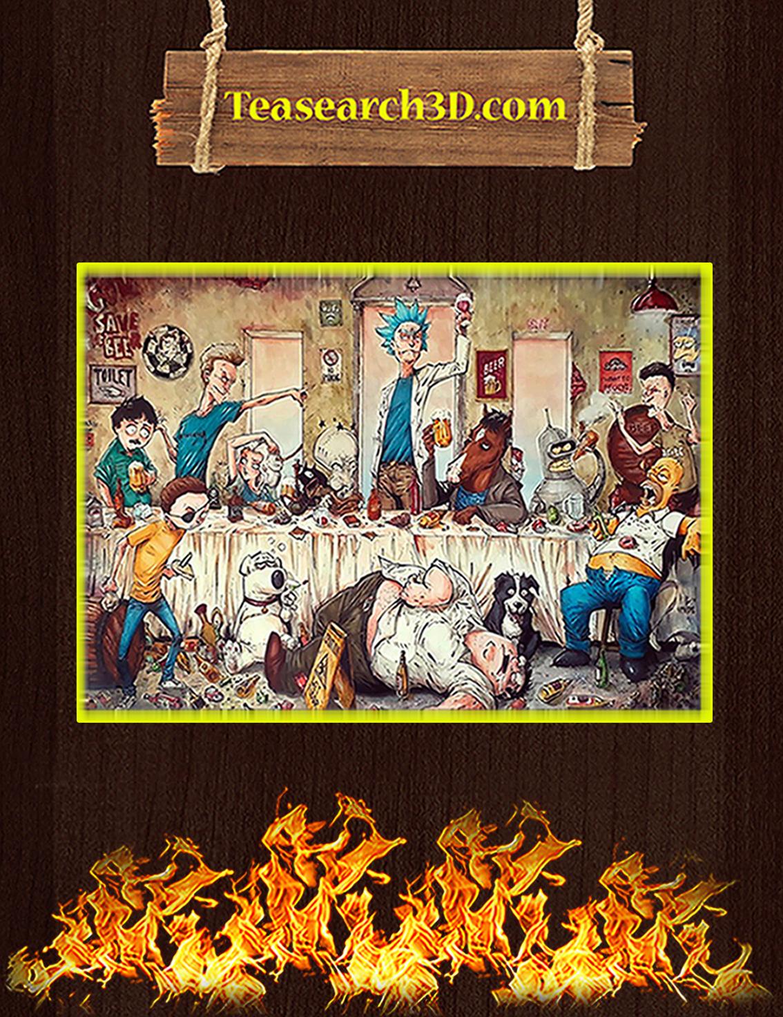 Adult Cartoons Art Work By Marcelo Ventura Poster A3