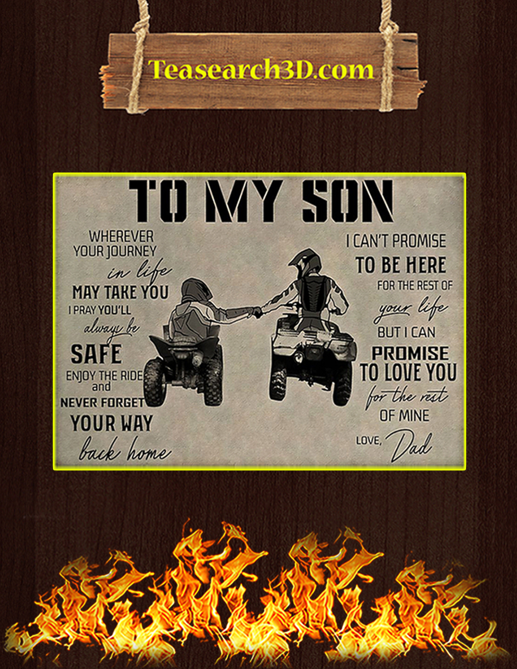 All-terrain vehicle to my son poster A1