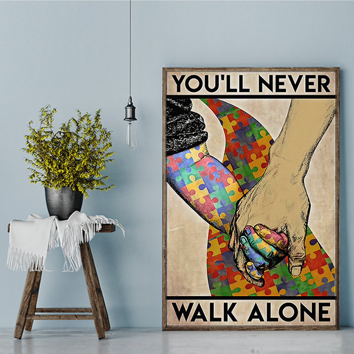 Autism you'll never walk alone poster A2