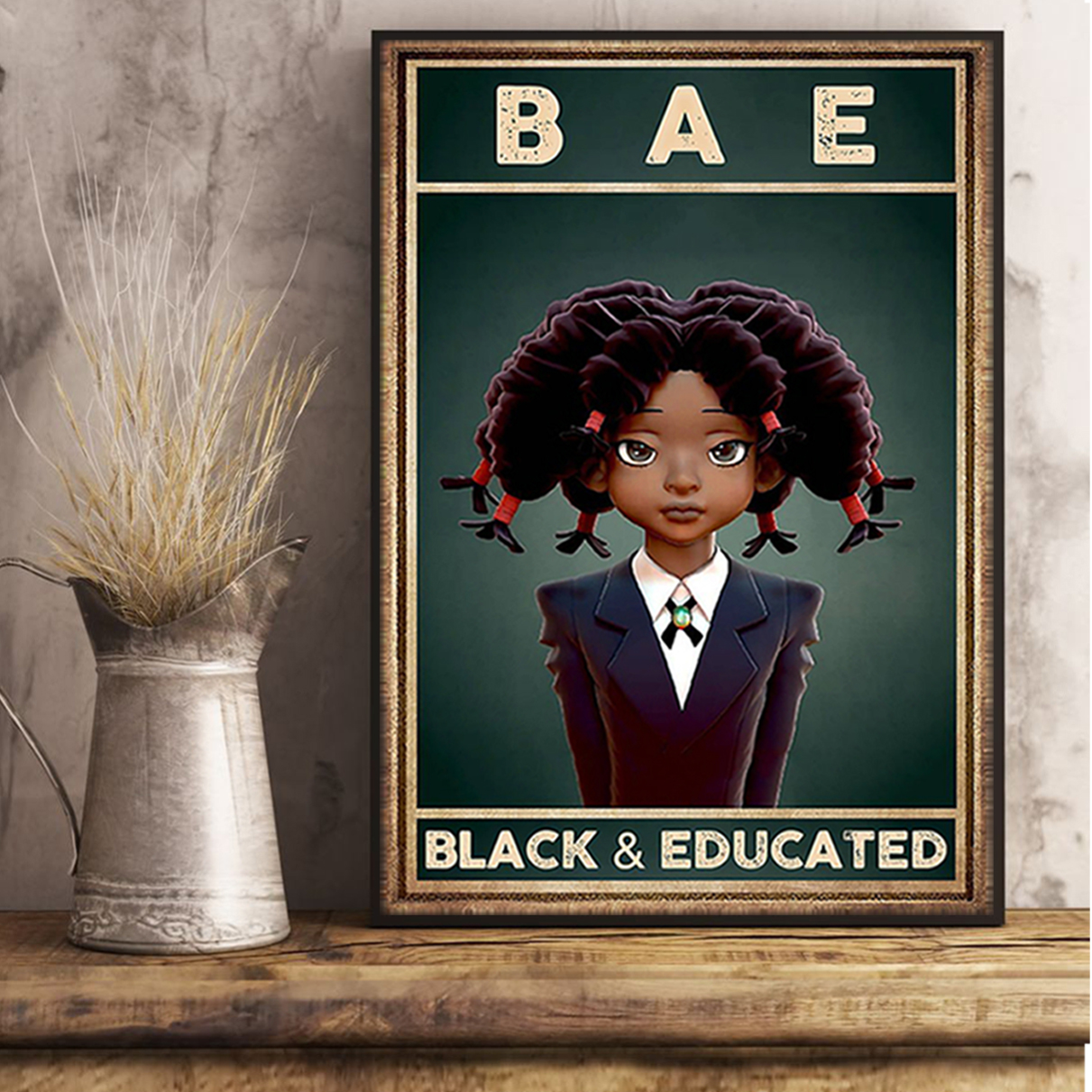 BAE black and educated poster A1
