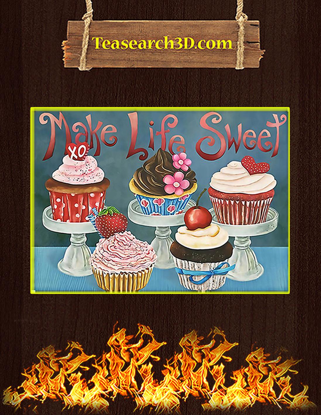 Baking make life sweet poster A2