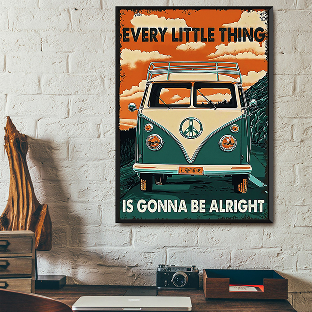 Car every little thing is gonna be alright poster A2